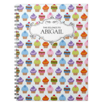 Personalized Cupcakes Spiral Bound Notebook