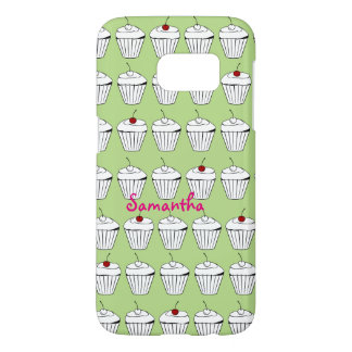 Personalized Cupcakes With Cherries Samsung Galaxy S7 Case