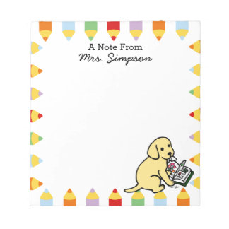 Personalized Curious Yellow Labrador Notepads