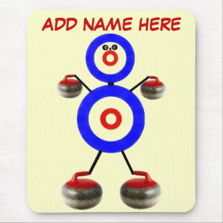 Personalized Curling Cartoon Mouse Pad