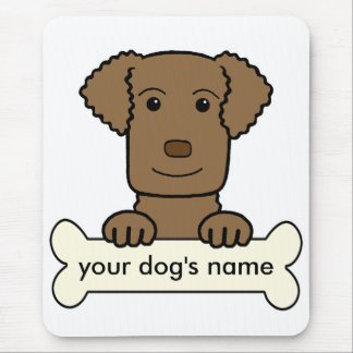 Personalized Curly-Coated Retriever Mouse Pad