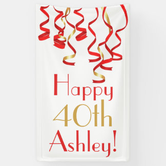 Personalized Curly Ribbons Birthday Banner