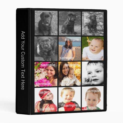 Personalized Custom 12 Photo Collage Mini Binder