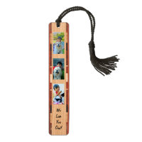Personalized Custom 3-Photo Gift Father's Day Bookmark