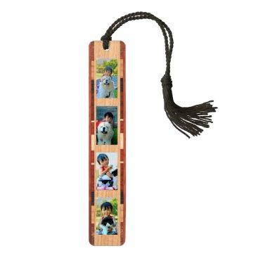 Personalized Custom 4-Photo Gift Quality Bookmark