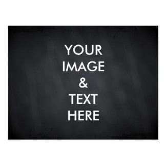 Personalized Custom black chalkboard Your Own Phot Postcard