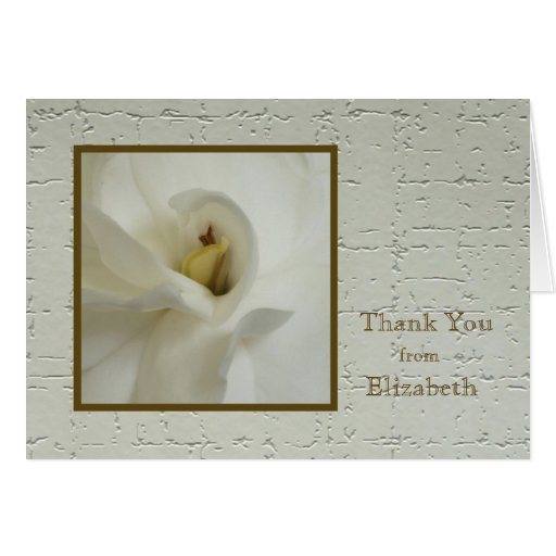 Personalized Custom Blank Thank You Card
