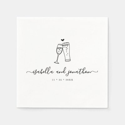 Personalized Custom Bubbles & Brews Themed Napkins