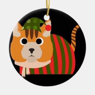 Personalized Custom Cat Christmas Ornament