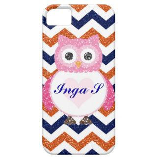 Personalized Custom Chevron & Owl iPhone 5 / 5s iPhone 5 Cover