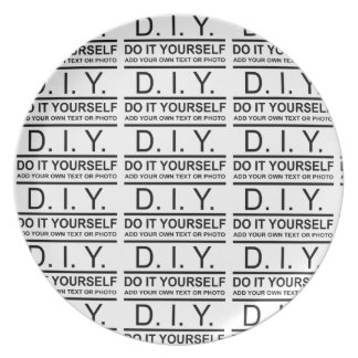Personalized Custom Color DIY Do It Yourself Dinner Plate