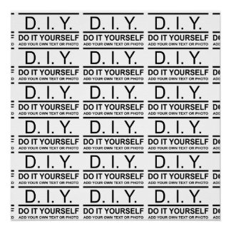 Personalized Custom Color DIY Do It Yourself Poster