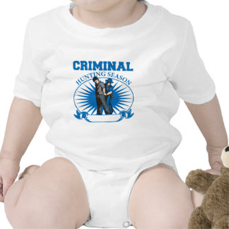 Personalized Custom Criminal Hunting Season Rompers