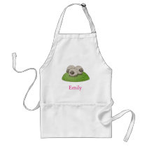 Personalized Custom Cute Three Sheep Adult Apron