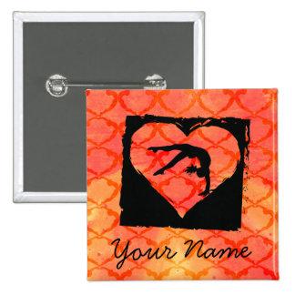 Personalized Custom Dance Gymnastics Pinback Button