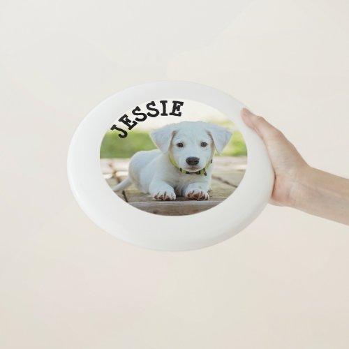 Personalized Custom Dog Photo  Name  Frisbee