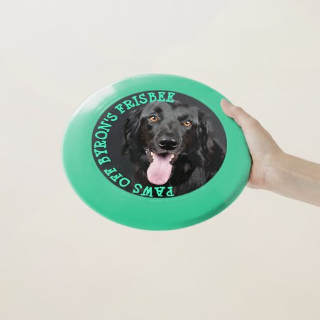 Personalized Custom Dog Photo & Name Toy Frisbee