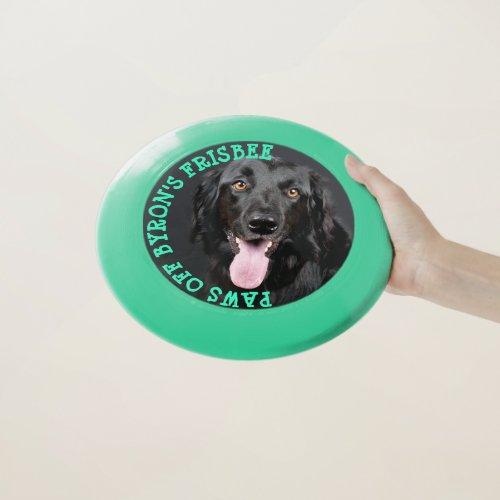 Personalized Custom Dog Photo  Name Toy Frisbee