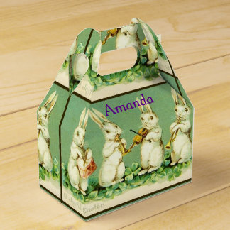 Easter holiday rabbit favor boxes zazzle personalized custom easter gift box negle Image collections