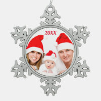 Personalized Custom FAMILY Holiday Photo Ornament