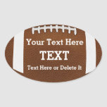 Personalized Custom Football Stickers Your TEXT
