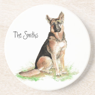 Personalized Custom German Shepherd Coaster