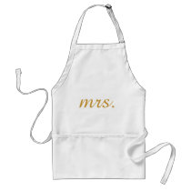 Personalized Custom Gold Foil Mrs Adult Apron