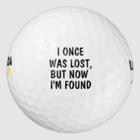 Personalized custom groomsman I once was lost Golf Balls