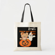 Personalized Custom Halloween Trick Or Treat Bag at Zazzle