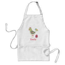 Personalized Custom Hen with Egg Abstract Adult Apron