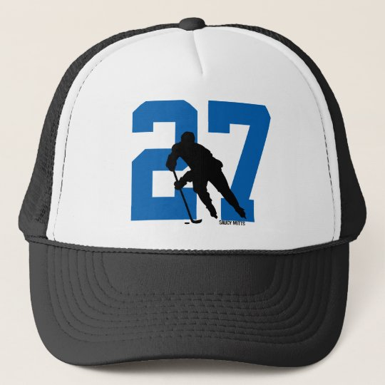 235f69a982e Personalized Custom Hockey Player Number Trucker Hat