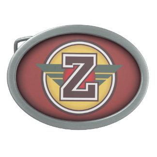 Personalized Custom Initial Z Oval Belt Buckle