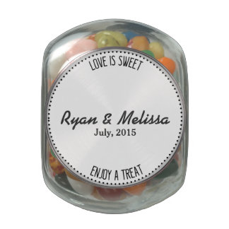 Personalized Custom Jelly Bean Wedding Favor Gift Jelly Belly Candy Jar