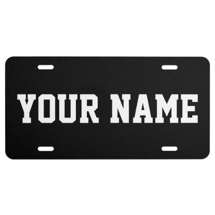 Personalized Custom License Plate Aluminum