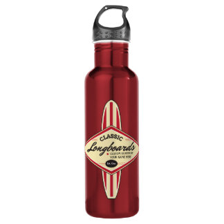 Personalized Custom Longboards Water Bottle