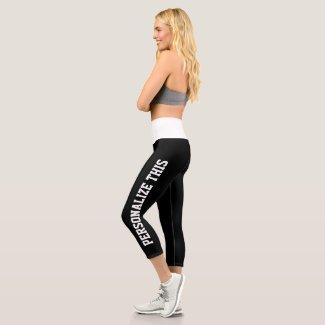 Personalized Custom Made Capri Leggings