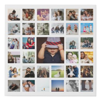 Personalized Custom Made Collage Faux Canvas Print