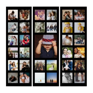 Personalized Custom Made Collage Triptych