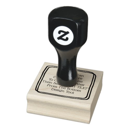 personalized custom made rubber stamp