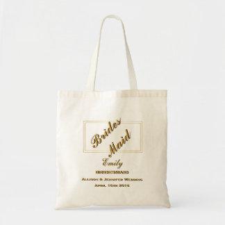 Personalized Custom Monogram Bridesmaid Tote Bag