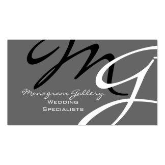 Personalized Custom Monogram Business Card