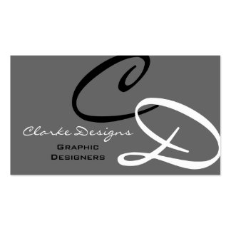 Personalized Custom Monogram Business Card