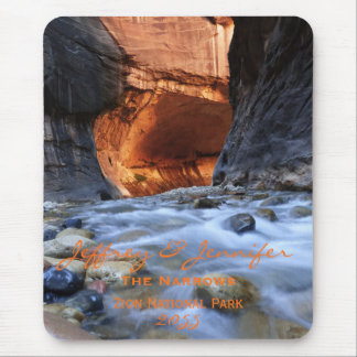Personalized, Custom Mouse Pad, Zion Narrows Mouse Pad