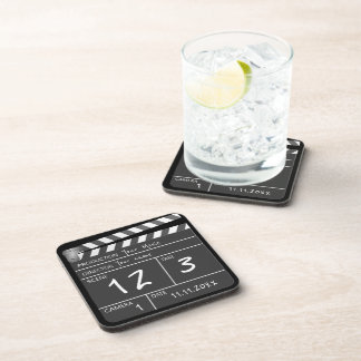 Personalized Custom Movie Clapperboard Novelty Drink Coaster