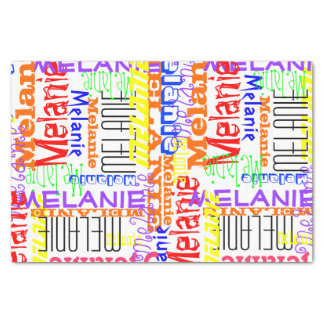 "Personalized Custom Name Collage Colorful 10"" X 15"" Tissue Paper"