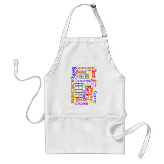 Personalized Custom Name Collage Colorful Adult Apron