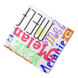 Personalized Custom Name Collage Colorful Bandana