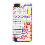 Personalized Custom Name Collage Colorful iPod Touch (5th Generation) Cover