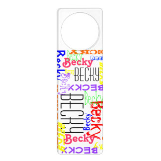 Personalized Custom Name Collage Colorful Door Knob Hanger