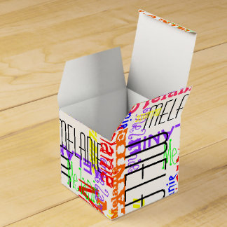 Personalized Custom Name Collage Colorful Favor Box